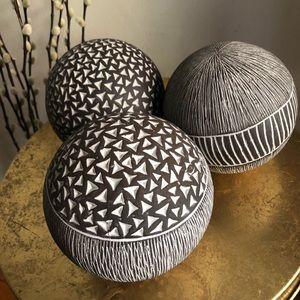 3 Pier 1 decorative balls